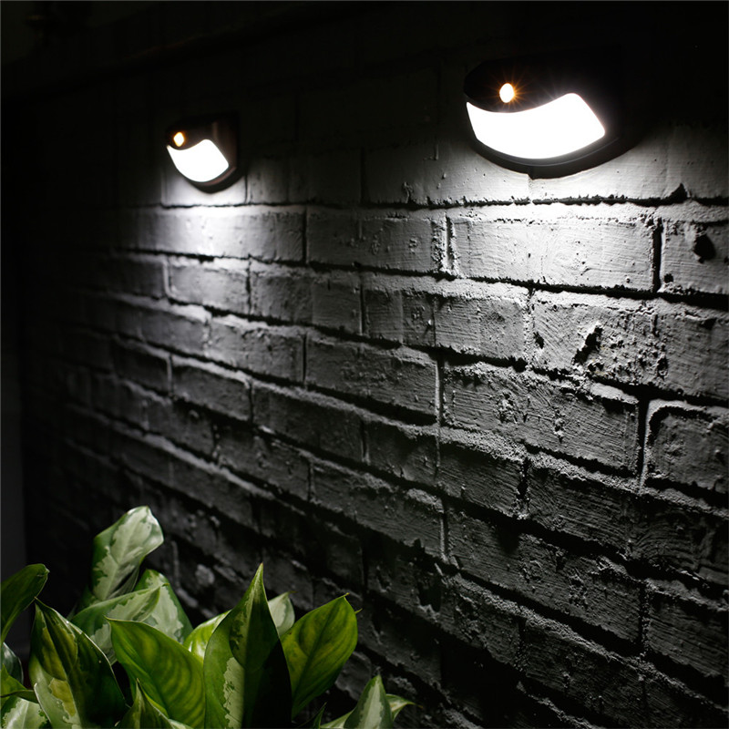 Dropshipping 4 LED Solar Light Control Lights Solar Wall Lamp Staircase Lights  LED Garden Light Outdoor Pathway Sense  7.20