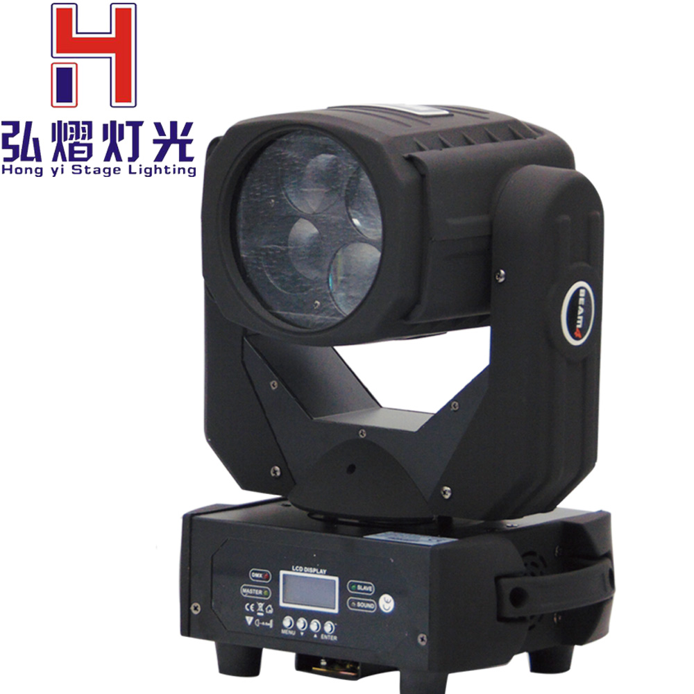 (1pcs/lot)LED Moving Head Light DMX512 High Power 4X25W Spot Beam Moving Head Lights For Professional Stage DJ lighting