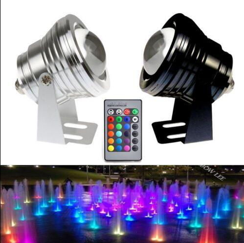 DC12V 10W LED RGB Underwater light Waterproof IP68 rgb led Flood light with Convex Glass Wholesale