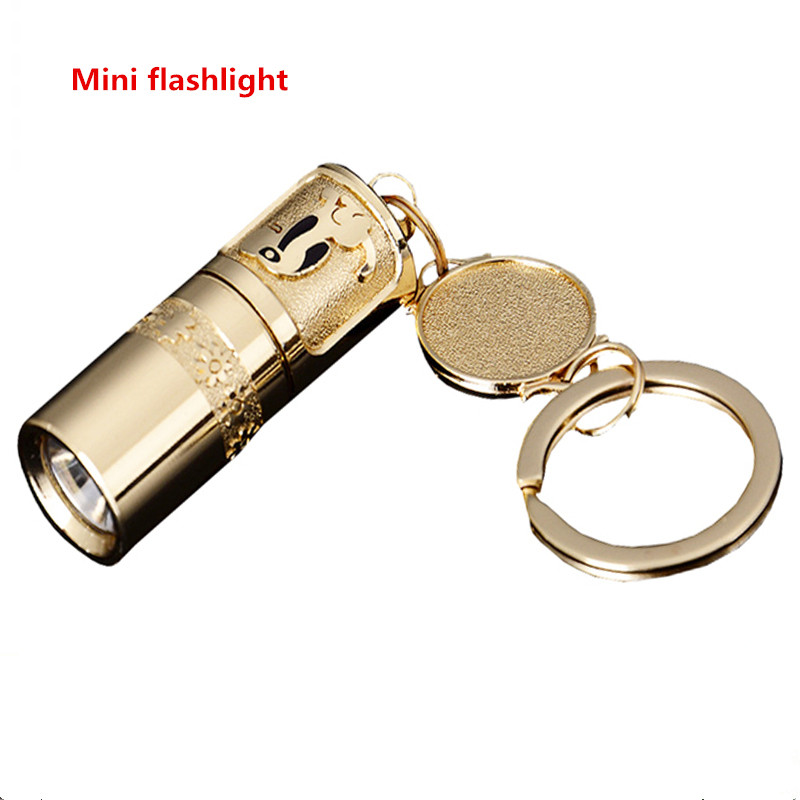 1PCS Outdoor mini flashlight home super bright light led waterproof ultra-small pocket keychain mini small flashlight