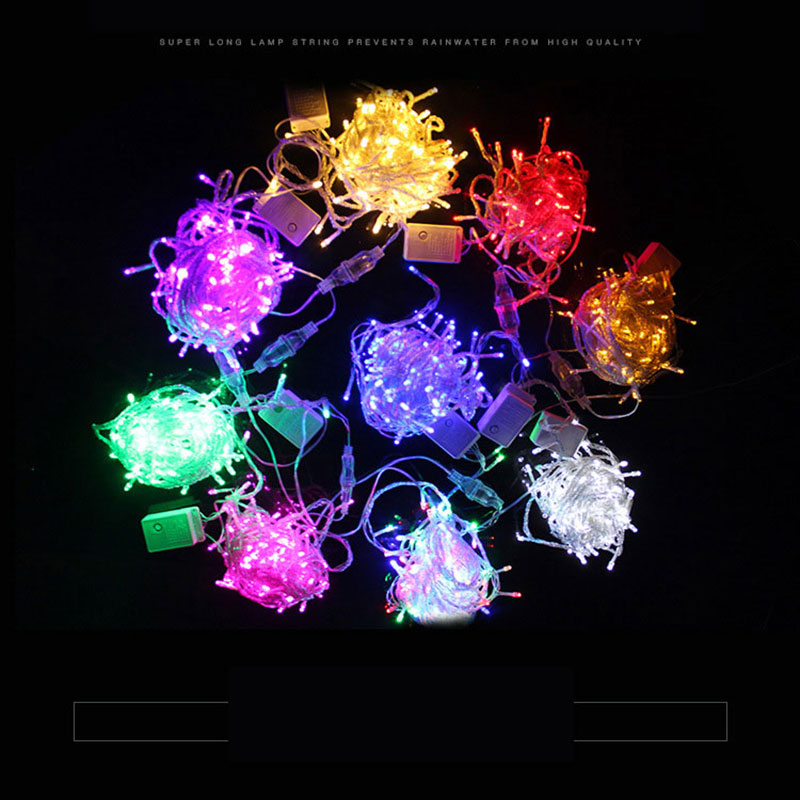100M 800 Fairy LED String Light Outdoor Waterproof AC220V Chirstmas String Garland For Xmas Wedding Christmas Party Holiday
