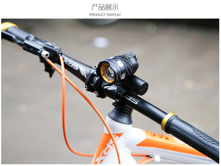 A piece USB Rechargeable XML T6 LED Bicycle Bike Light Front Cycling Light Head lamp