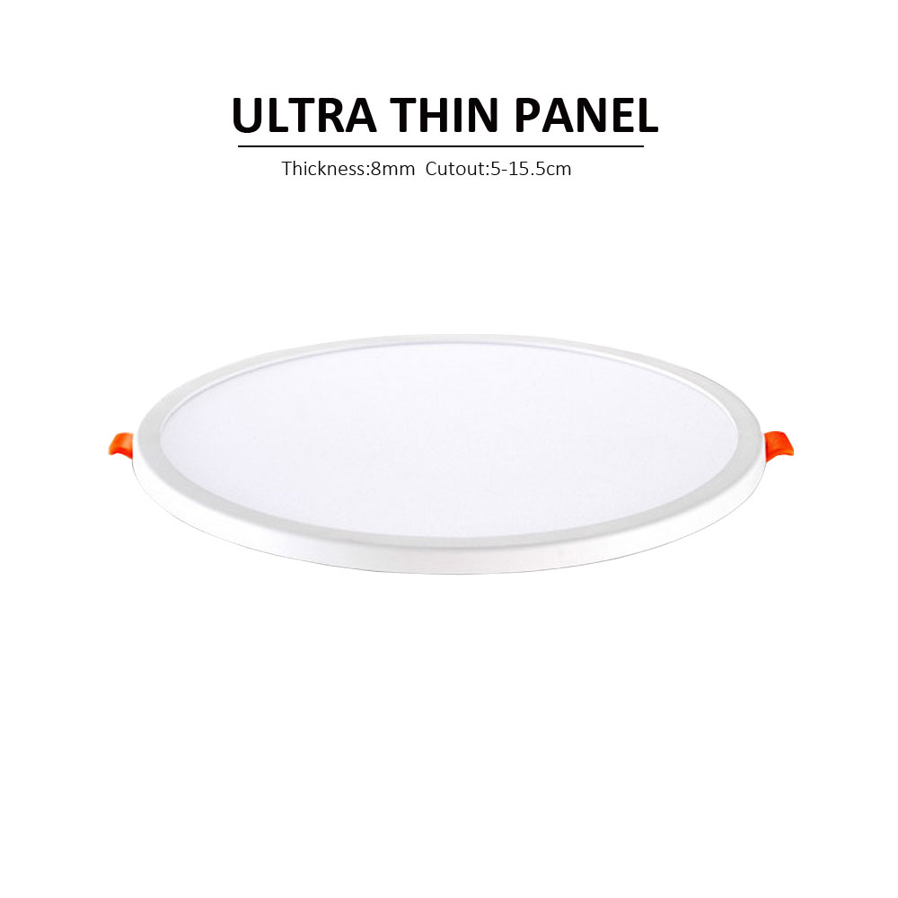 Ultra thin 8mm 12W led panel light AC220V high brightness led ceiling light recessed indoor lamp energy saving RoHS CE