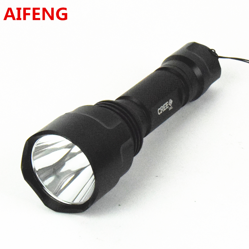 AIFENG led flashlight TOUCH 18650 cree Q5 camping hunting portable C8 5 mode for bike 2000LM bicycle with battery charger