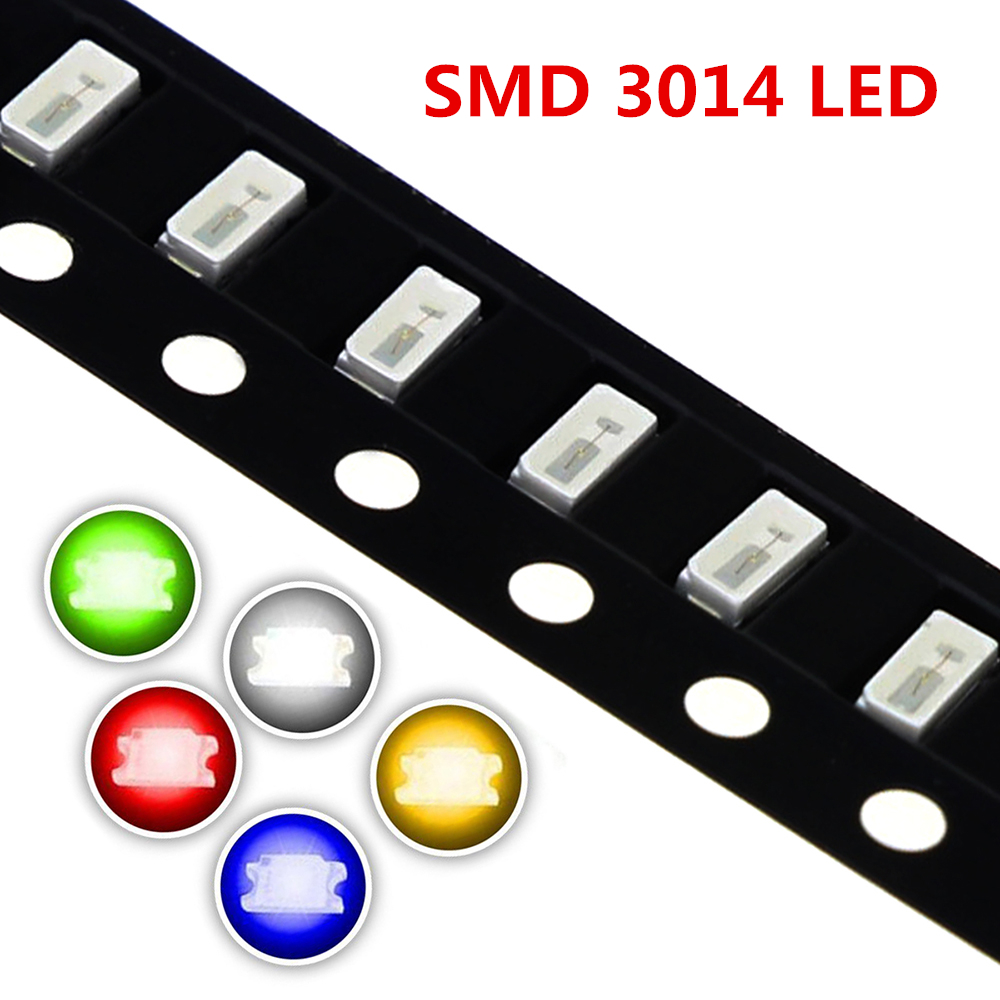 5 colors 3014 SMD Led Super Bright Red/Green/Blue/Yellow/White Water Clear LED Light Diode