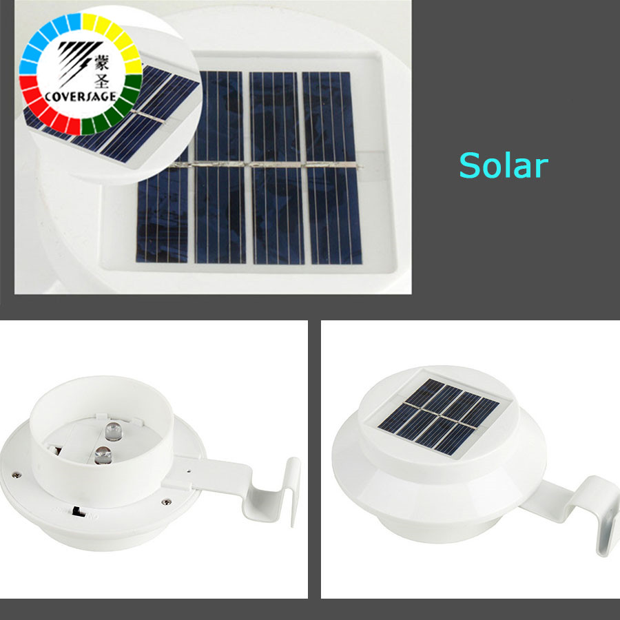 Coversage 3 led solar outdoor iluminacion luz auto sensor - Iluminacion exterior led solar ...