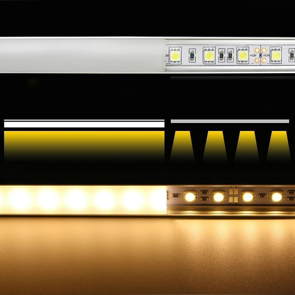 20PCS DHL 1 m LED strip aluminum profile for 5050 5630 LED hard bar light led bar aluminum channel housing with cover end cover