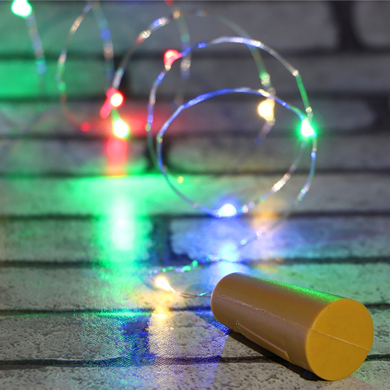2M 20LED silver Wire String Lights Wine Bottle Cork Lights Decoration String Lights for Bottle DIY Party Wedding Christmas