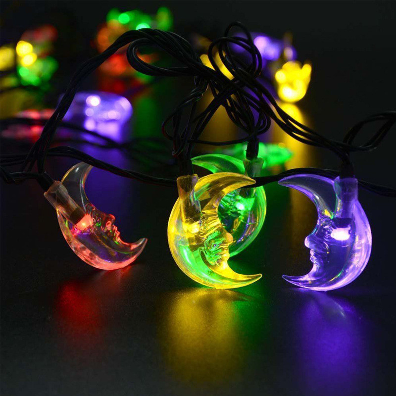 Kitop Waterproof 4M 20Leds String lights Moon Solar powered outdoor decorative Fairy lighting for Christmas tree,Party,Bar,KTV