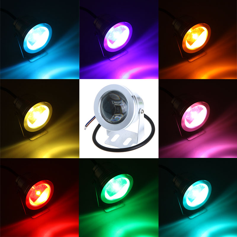 RGB 12V AC DC  input Waterproof LED spotlight IP65 fountain pool Lamp 16 color changable 24 key IR Remote controller 4pcs/lot