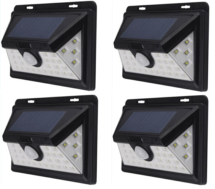 34 LED solar lighting IP65 Wide Angle Security Motion Sensor Light with 3 Modes Motion Activated for outdoor Garden