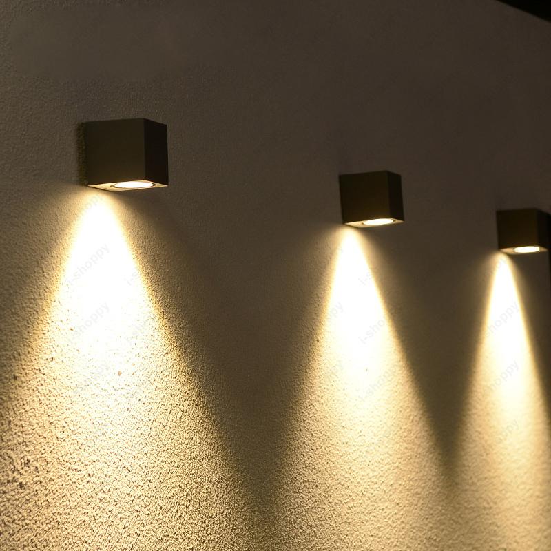 18W LED Outdoor Lamp Fixture Building Exterior Wall Sconces Light Cottage Door