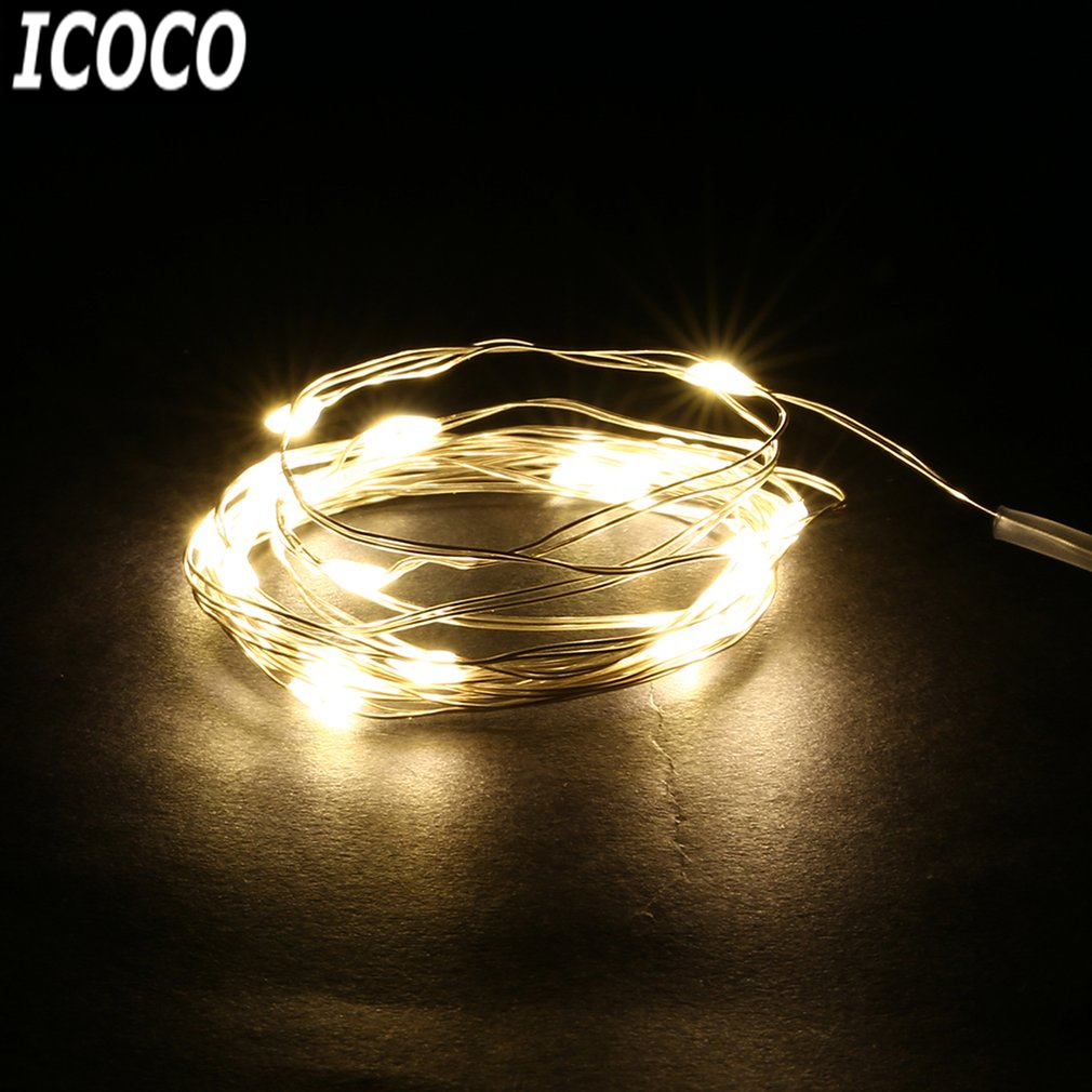 ICOCO 1pcs Waterproof 4M 40 LEDs Copper Wire Fairy Lighting Strings LED Strip Lighting for Holiday Party Wedding Decor Sale