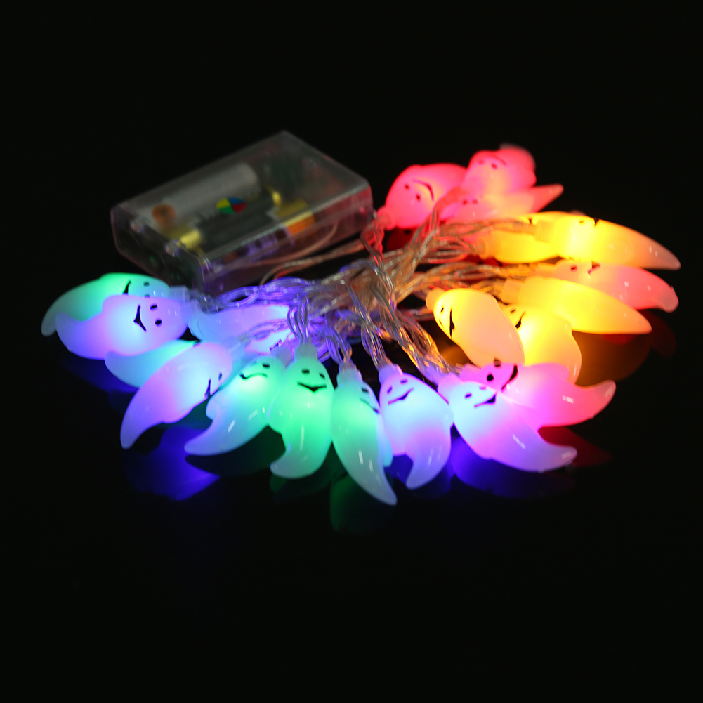 20pcs LED LED light Skull Pumpkin String Light Lamp Halloween Holiday lights Party Props Bar Decoration By AA Battery