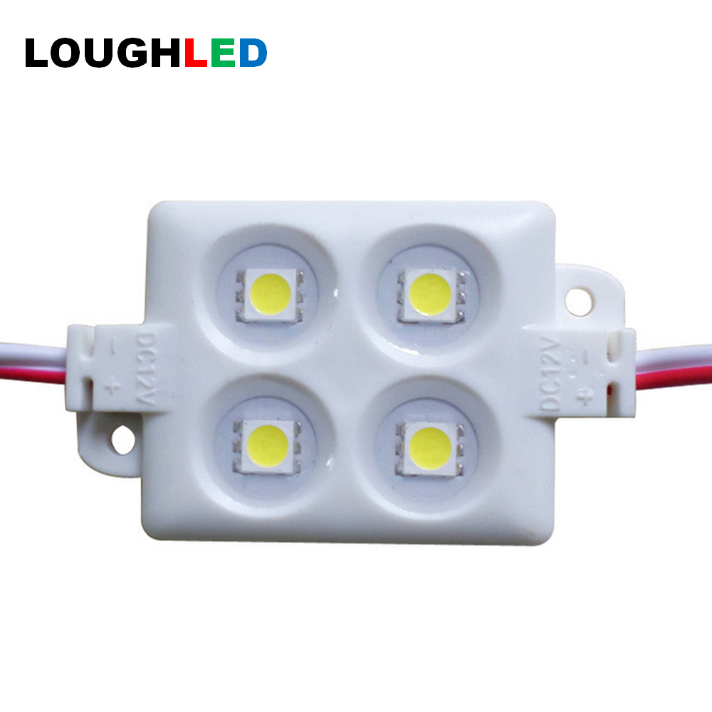 4SMD SMD5050 36*36mm Injection LED Module for Sign DC12V IP65 square Epistar LED Module white red green blue yellow RGB