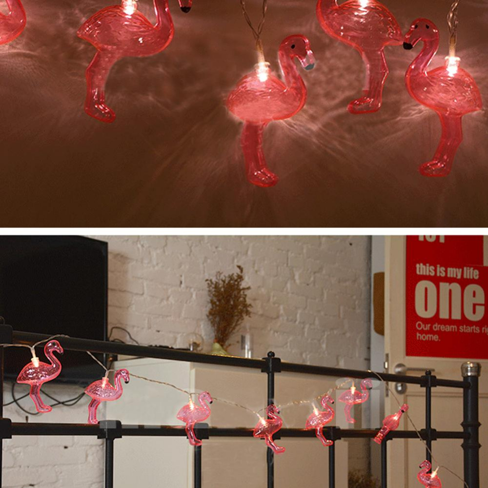 New flamingo Shape Led Twinkle Light Wedding Party Decorations 3D Flamingo String Lights Home Decor for Wedding Xmas Party