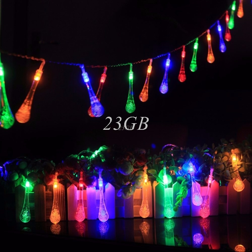 2.2m 20 LED Waterproof Water Drop Fairy String Lights w/Battery Box Xmas Wedding Outdoor A15_15