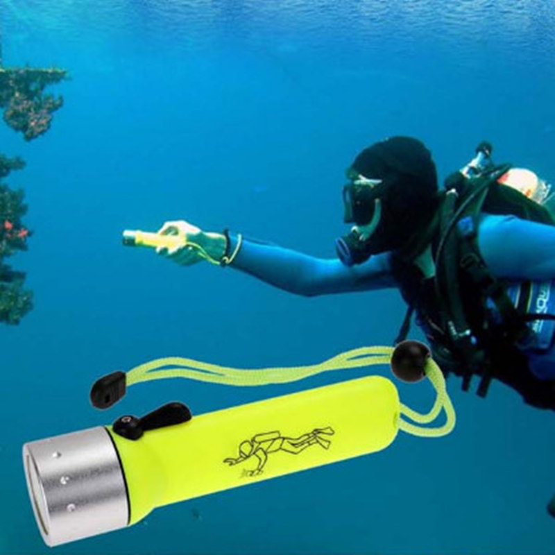 2000LM XM-L T6 LED Lanttern Waterproof underwater Diving Flashlight 18650 Flashlight Dive Torch Lamp Light for camping diving