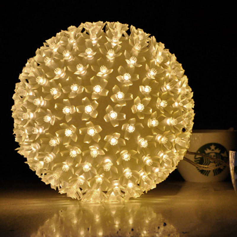 Romantic Diameter 20cm 200Leds Big Cherry Ball String Lights Xmas Lovers Wedding Party Propose Marriage Decorations Fairy Lamp