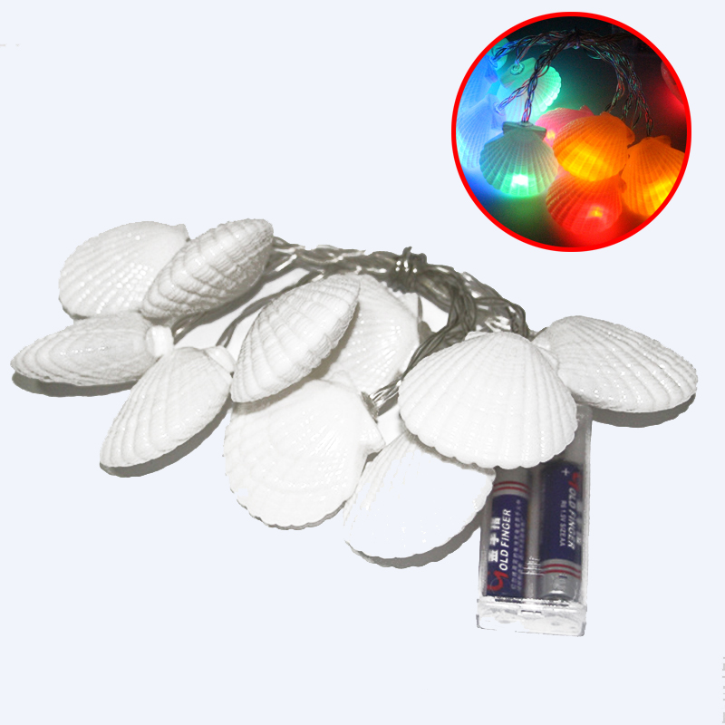 1.5M 10LEDs Sea Shell Shaped String Lights Christmas Holiday Party Fairy Lights Mediterranean Style Wedding Decorative Lights