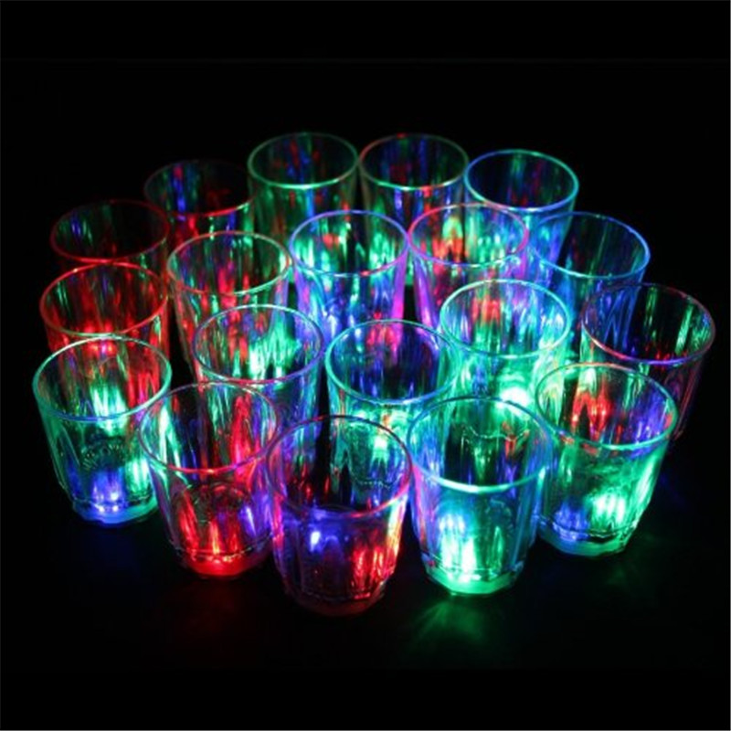 LumiParty 24 pcs/lots LED Flash Light Up Cups Flashing Shots Light 24 LED Bar Night Club Party Drink LED Night Light