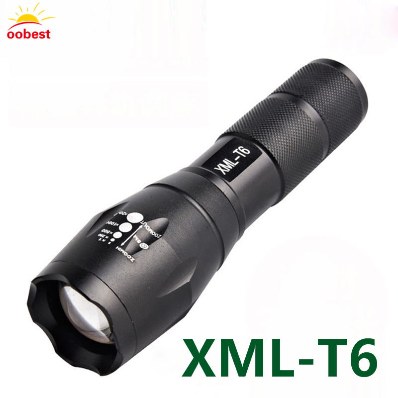 Tactical bycicle bike diving LED Flashlight 1000 Lumens XM-L T6 LED Flash light Torch Zoomable Flashlight Torch Lanternas 18650