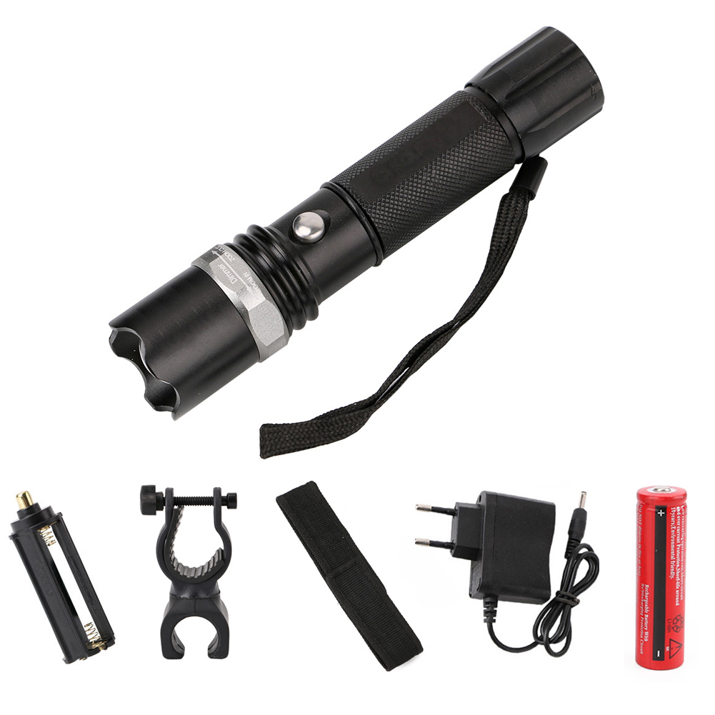Eletorot Military Police flashlight waterproof toch waterproof tactical flashlight Self defense Lantern lampe torche zaklamp