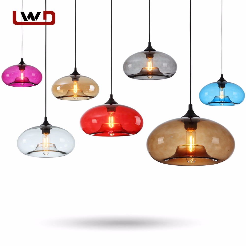 Modern Colorful Pendant Lamps Restaurant Coffee Bedroom