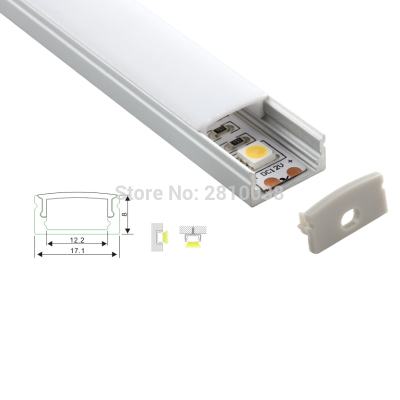 200 X 1M Sets/Lot Ultra Slim led aluminum profile channel or Al6063 alu u profile for wall or floor lamps