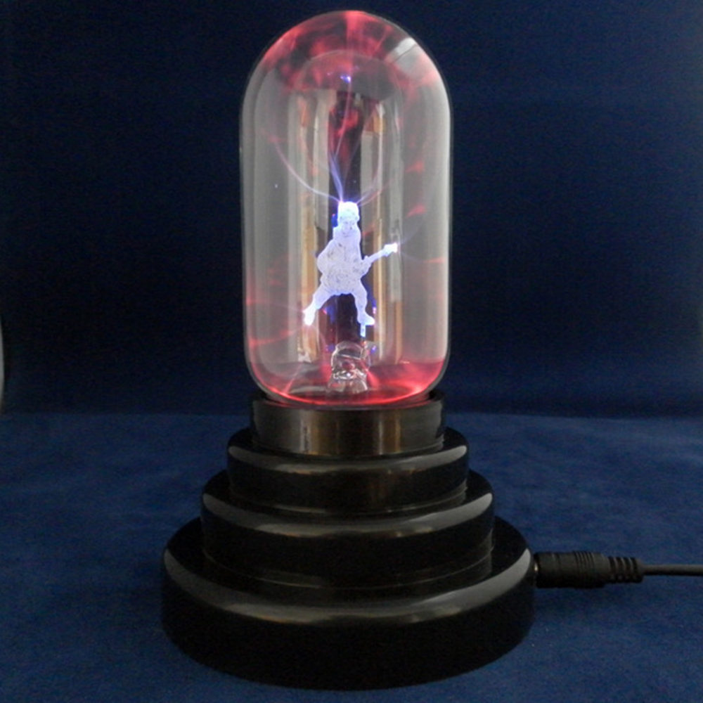 Novelty Guitar electrostatic ion ball Magic ball Usb night light 10 * 10 * 13.5CM glass Push Button USB powered multi-color