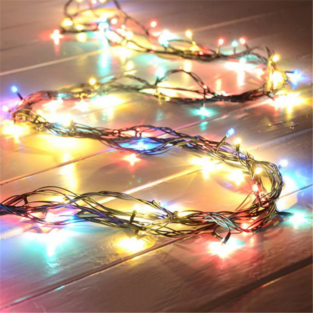 4m/157.48inch 100 Led Light Heads Colorful LED String Lights Wedding Twinkle Lamps Party Christmas Tree Decor 6 Colors Changed