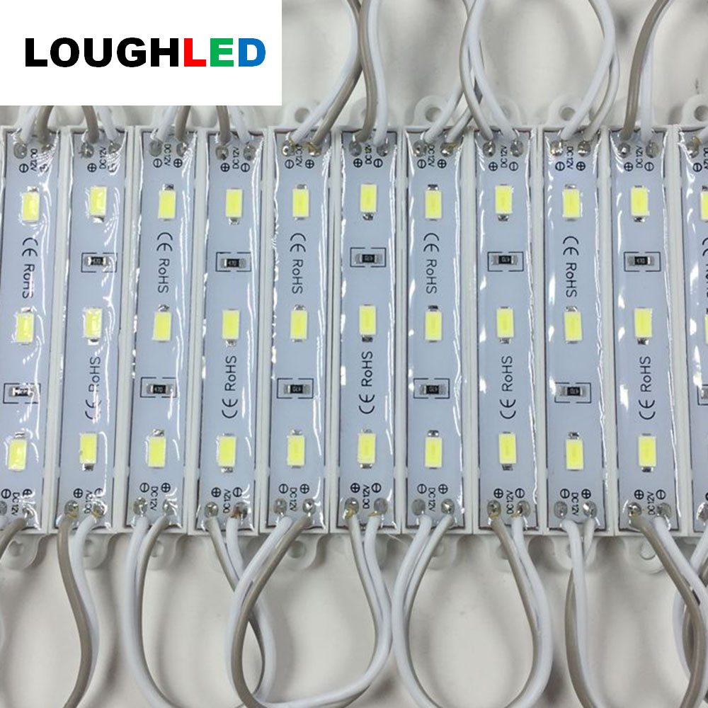 SMD5730 3leds LED Module for Sign DC12V Waterproof IP67 smd led modules white green blue yellow red