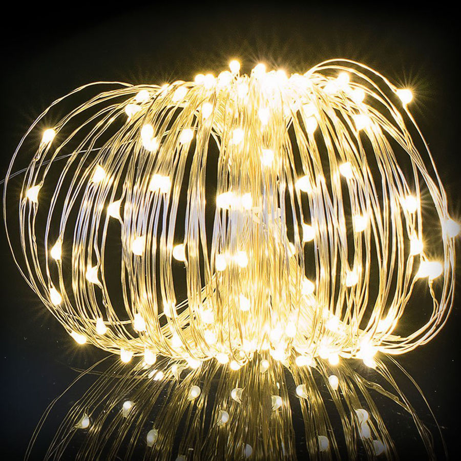 Solar String Lights, Fairy Solar Lights Outdoor, Copper Wire Lights( 200led,65.6ft) Fairy String Lights for Garden, Patio