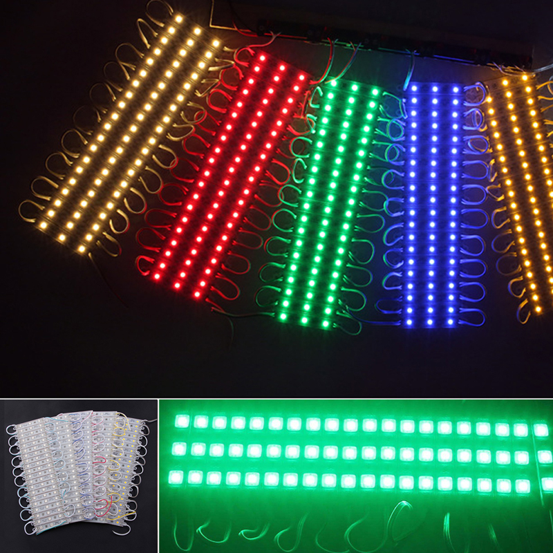 20Pcs 3LED 5050 SMD Module Light Lamp Strip DC 12V Signs Decoration Waterproof New