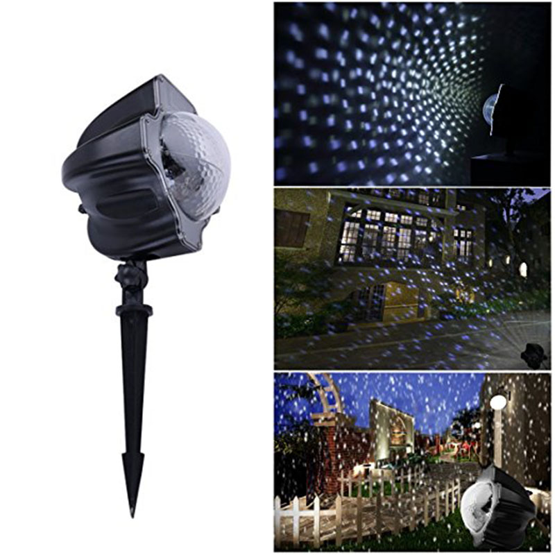LED Snowfall outdoor Night Light Projector Snowfall garden light LED Projection lawn Light Show for Halloween
