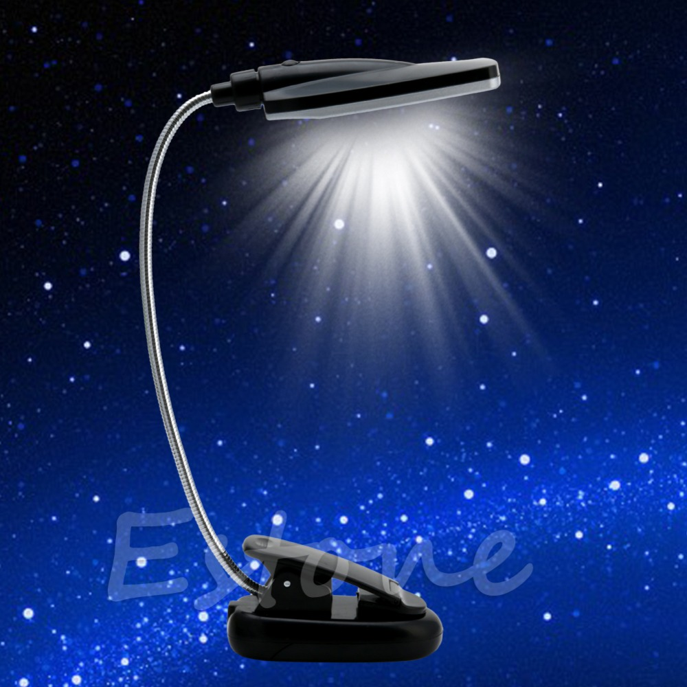 Pro Flexible USB/Battery Power 28 LED Light Clip-on Bed Table Desk Reading Lamp #K4U3X#