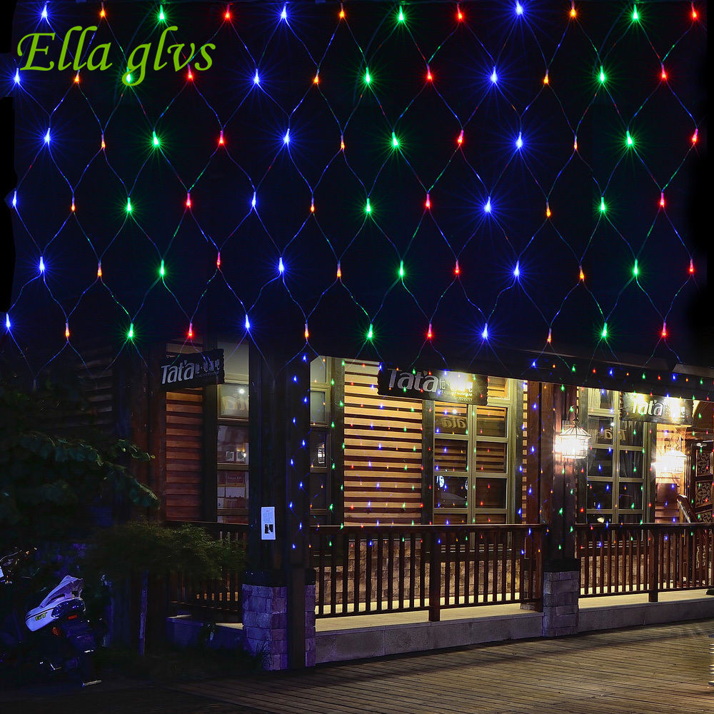 String Lights 3M x 2M 200 LED Linkable Design Net Mesh  Ideal for Indoor Outdoor Home Garden Christmas Party Wedding