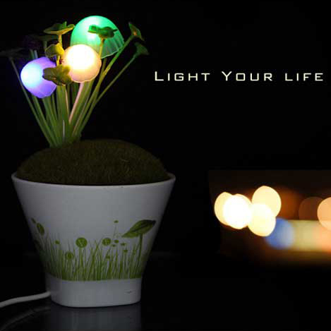USB Mini mushroom lamp induction Nightlight birthday gift creative boutique pot lamp