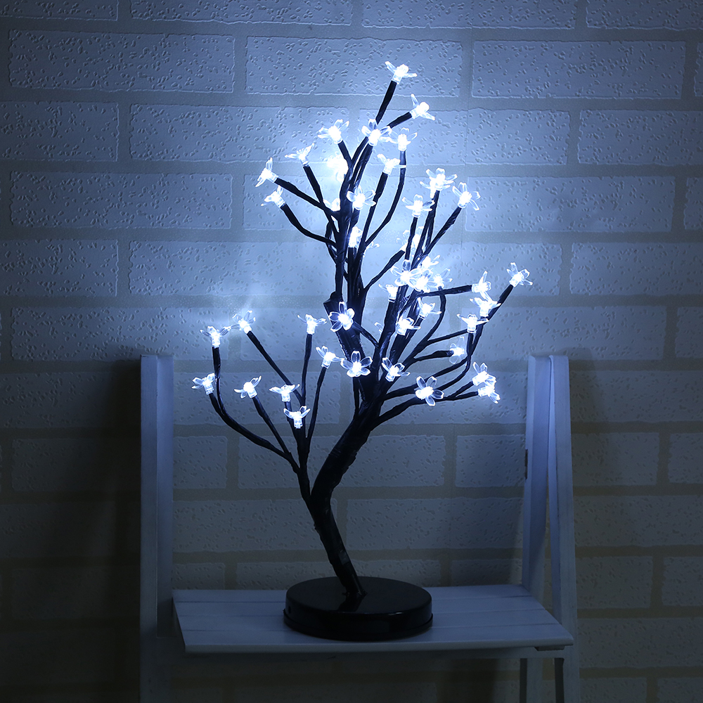 48 Heads Blossom Tree Night Lights Living Room Novelty Plum Blossom Tree Lamp LED Rose Lamps Decoration Night Lamp