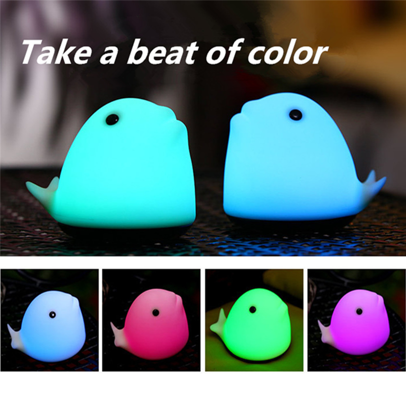 Color Changing Touch Sensor LED Charging Colorful Room Dolphin Night Light Romantic Decor-Touch Sensor Home Decor Drop Shipping