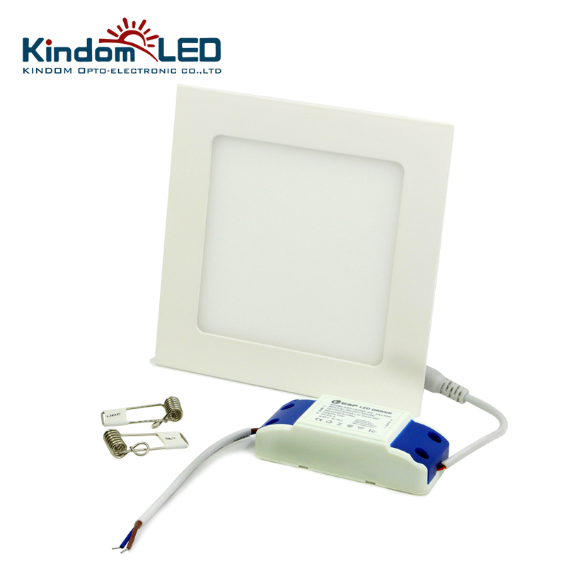 KINDOMLED 10pcs/lot Square concealed LED Panel Light AC85-265V IP44 2835SMD 3/6/9/12/24W LED ceiling Light Ultra lamp downlight