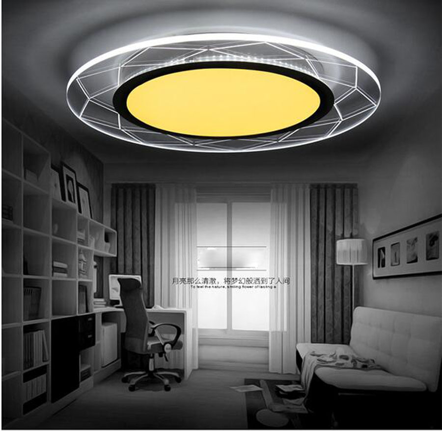 Modern Acryl LED Ceiling Lamp Ultrathin Square Circular LED Chip Light Fixture Parlor Bedroom Restaurant Absorb Dome Lamp
