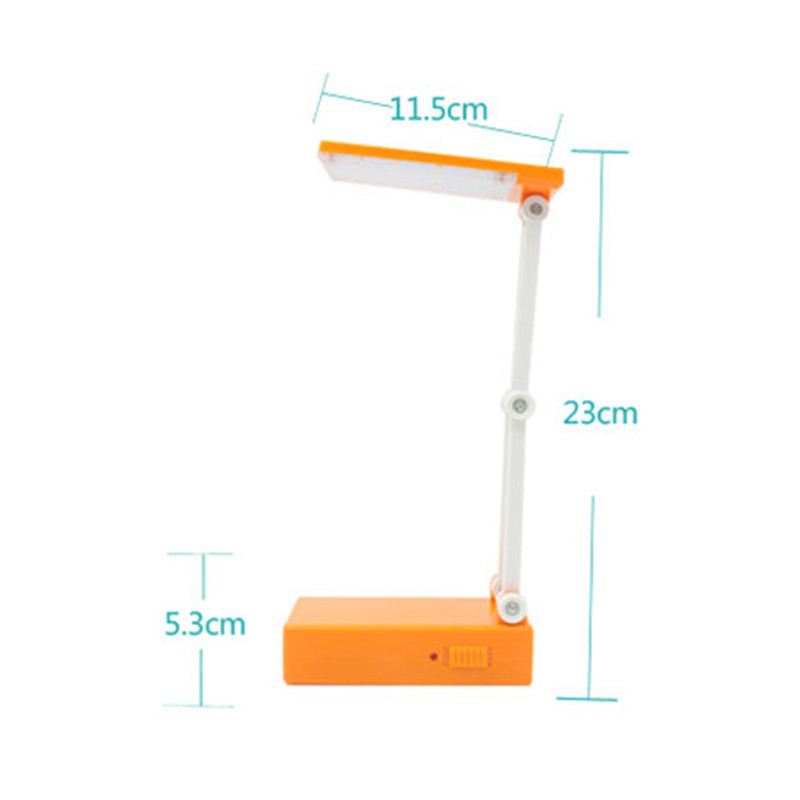 LAIDEYI 12 LED Dimmable Desk Lamps LED Foldable Built-In Battery Table Lamp For Student Study Reading And Emergency Lighting