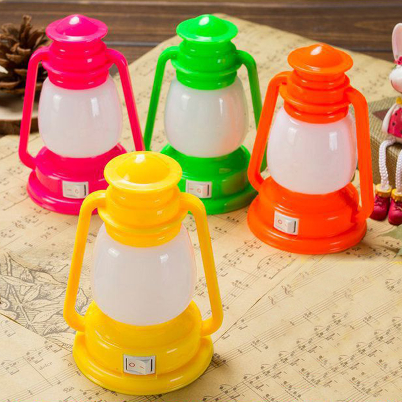 LumiParty Mini LED Night Lamp Decoration Colorful Vintage Lantern Lamp Portable Night Light For Bedroom