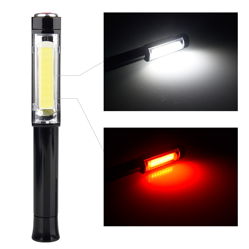 COB LED Multifunction led Torch light Magnetic Working Inspection Lamp Pocket Light Mini Pen Clip Working Light