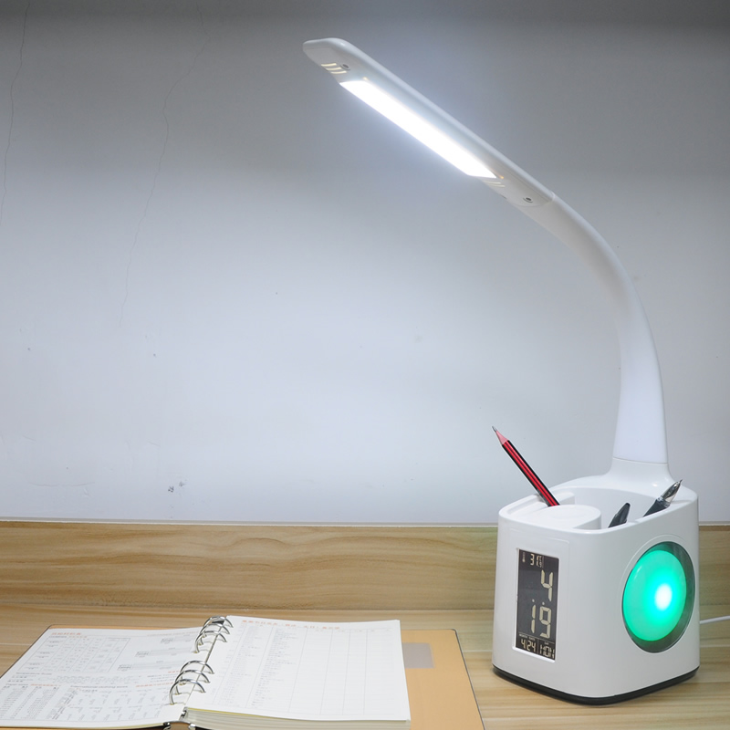 Desk Lamp Touch Switch Bluetooth Speaker Table Lamp with Surround Sound System High Lumens Brightness LED Light