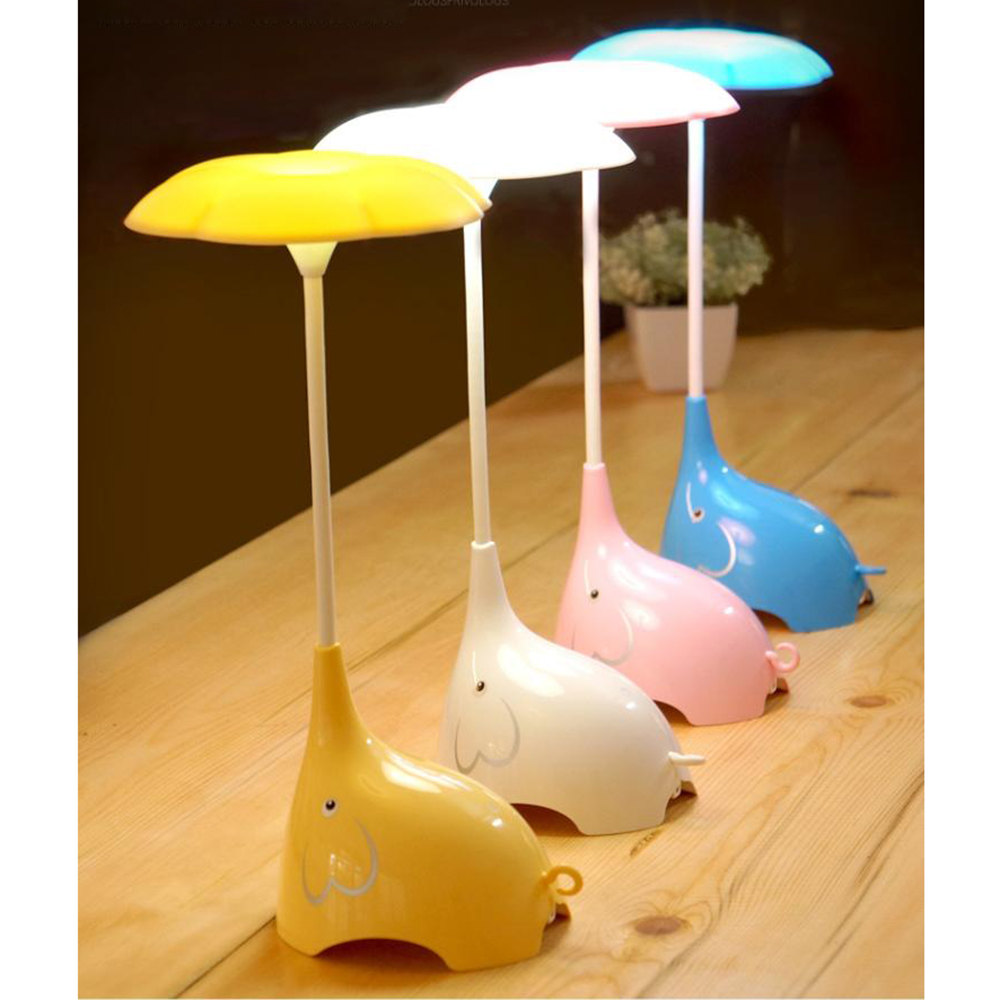 iTimo Elephant LED Night Light Touch Dimming Creative Baby Children Room Decoration Rechargeable Desk Lamp Sleep Lamp Novelty