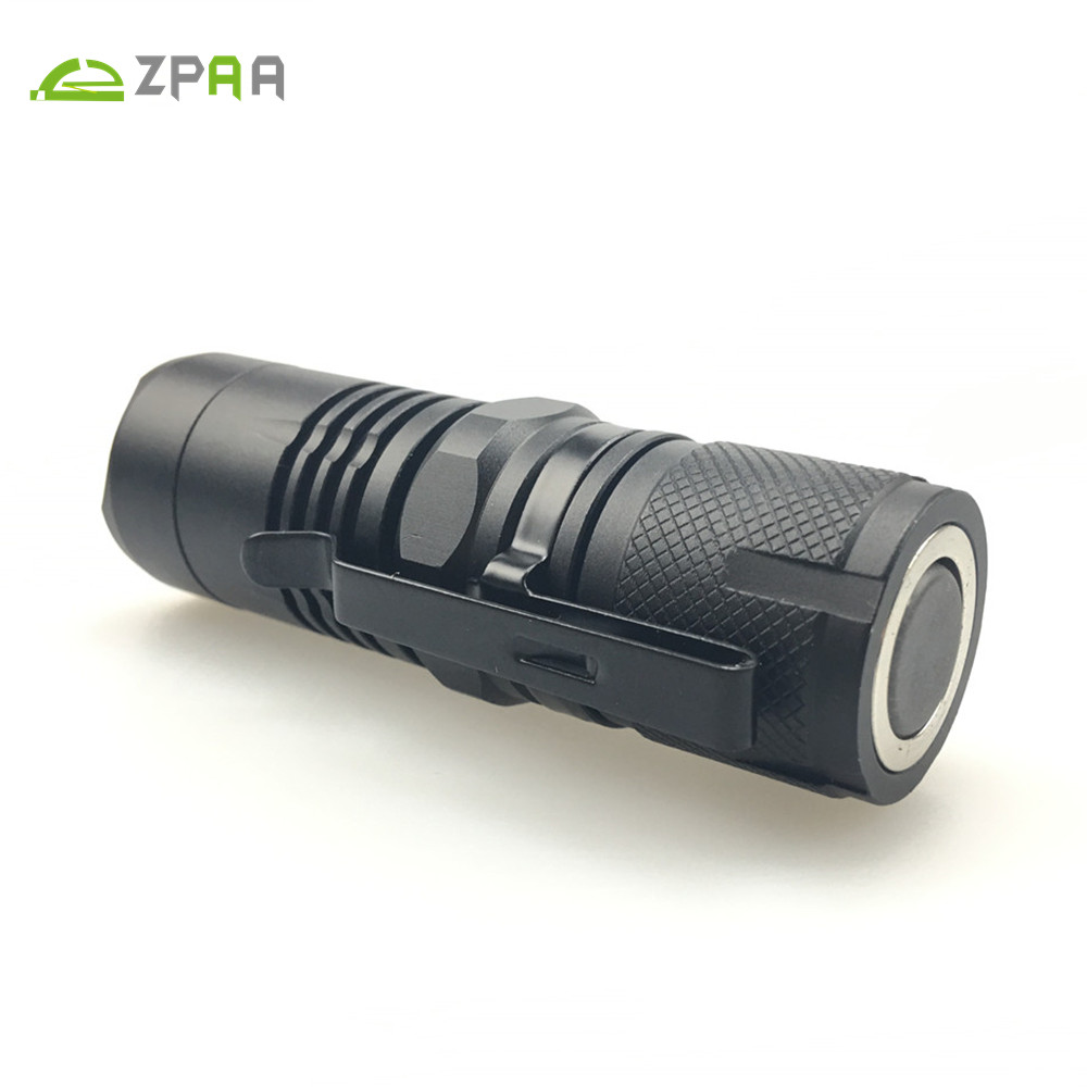 ZPAA Magnetic Flashlight XML T6 L2 Ultra Bright 4 Modes Penlight Mini Pocket Torch Powered By 16340 Battery Powerful Waterproof