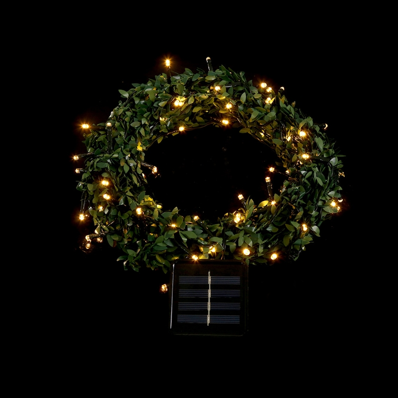 10m 100 LED Waterproof Leaf Garland Solar Power Fairy String Light Xmas Wedding Decor L15