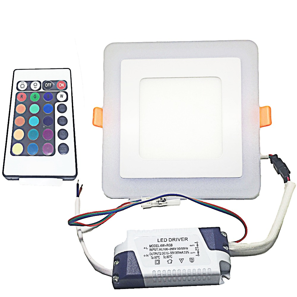 10pcs/pack 2.4G Wireless Led Ceiling Panel light  Input Voltage AC85-265V6W Can Dim And Change Color by 2.4G Controller